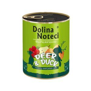 DOLINA NOTECI PREMIUM SUPERFOOD JELEŃ I KACZKA 800 g