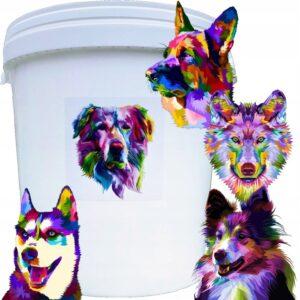 Pojemnik na karmę 33l z motywem graficznym w postaci kolorowego psa (losowy motyw)