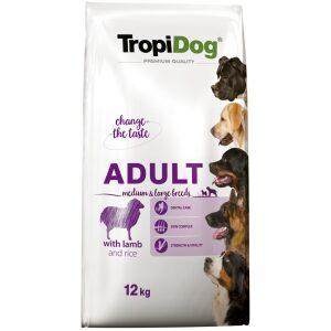 TropiDog Premium Adult MEDIUM & LARGE BREEDS z jagnięciną australijską i ryżem
