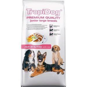 TropiDog Premium Adult MEDIUM & LARGE Wołowina z ryżem
