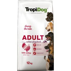 TropiDog Premium Adult MEDIUM & LARGE Indyk z ryżem dla dorosłych psów