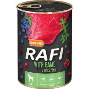Mokra karma dla psa Rafi z dziczyzną 400g
