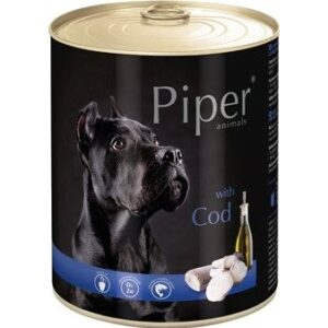 Mokra karma dla psa Piper Animals z dorszem 800g