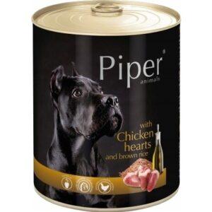 Mokra karma dla psa Piper Animals z sercami kurczaka i ryżem 800g