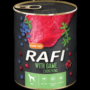 Mokra karma dla psa Rafi z dziczyzną 800g