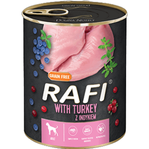 Mokra karma dla psa Rafi z indykiem 800g