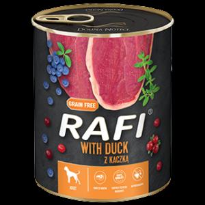 Mokra karma dla psa Rafi z kaczką 800g